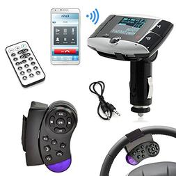 Car MP3 Player FM Transmitter with Steering Wheel Controller