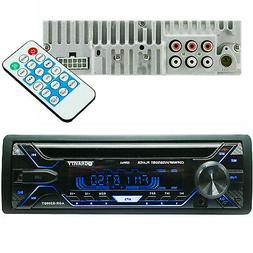 Gravity 1 Din Car Stereo, Bluetooth CD Player, USB, AUX, AM/