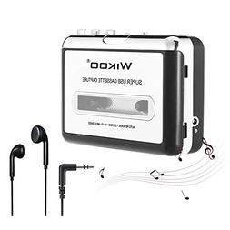 Cassette Tape to MP3 Converter, Wikoo USB Cassette Converter