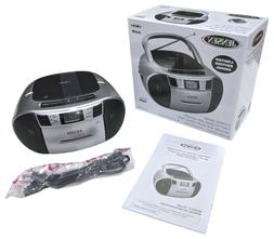 Jensen CD-545MP3 Top-Loading CD/MP3 AM/FM Radio Cassette Pla