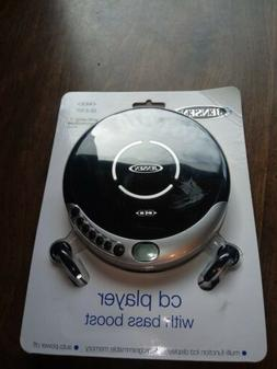 JENSEN CD-60C Personal CD Player with Bass Boost