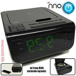 Onn CD/AM/FM/ Alarm Clock Radio with Digital tuning alarm wi