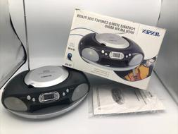 Jensen CD & Radio Player New With Box Boombox Black & Silver