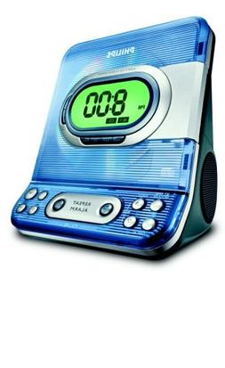 CD Clock Radio with Dual Alarm and Digital Am/fm Tun