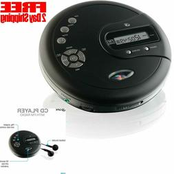 CD Disk Player Portable with Bass Boost FM Radio Anti-Skip P