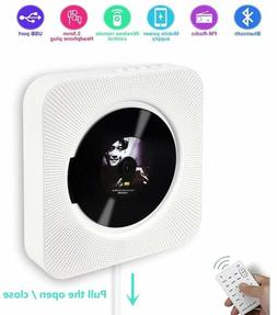 Portable CD Player with Bluetooth and HiFi Speakers, Wall Mo