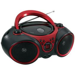 Jensen Cd490 Black/Red Portable Stereo Cd Player Am F