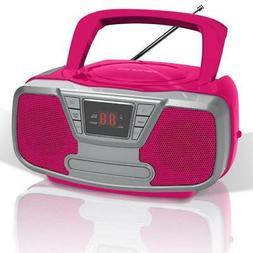 Riptunes CDB-232BTP Bluetooth Portable CD Boombox with AM/FM
