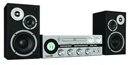 Classic Retro Bluetooth Stereo System with CD player, FM rad