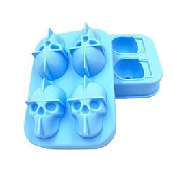 856store Clearance Sale 3D Halloween Skull Head Silicone Cho
