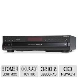 Sony Compact Disc Player - 5 Disc Carousel, Optical Output,