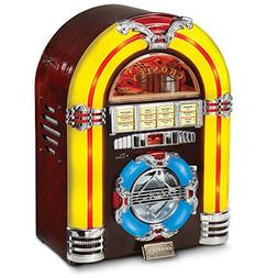 Crosley CR1101A-CH Jukebox with CD Player and LED Lighting,