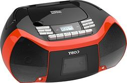 Coby CXCD-150-RED CD Cassette Radio
