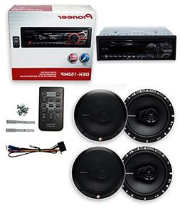 "Pioneer DEH-150MP+ 4 R165X3 6.5"" 180W 3 Way Car Speaker"