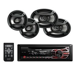 Pioneer DEH-150MP Single Din CD Player with one pair of TS-1