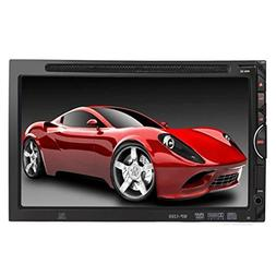 "Oucan 7"" Double DIN In-Dash Car Stereo DVD CD Player HD Touc"