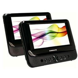 "SYLVANIA 7"" DUAL SCREEN PORTABLE DVD"