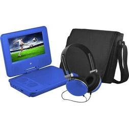 """Ematic EPD707 Portable 7"""" DVD Player with Headphones and Bag"""