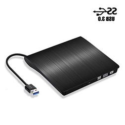 External CD Drive, USB 3.0 DVD CD Drive Burner for Laptop Ma