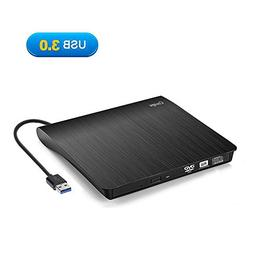 External CD Drive, Cocopa USB 3.0 Portable CD DVD +/-RW Driv