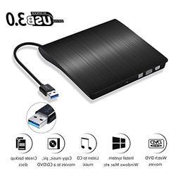 External CD Drive, Wahom USB 3.0 Slim Portable External DVD