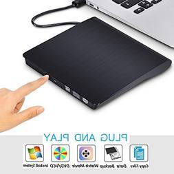 External CD Drive for Laptop, Sibaok USB 3.0 Optical DVD Dis