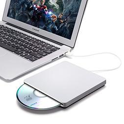 External CD DVD Drive,ONCHOICE USB 2.0 External Disc Optical