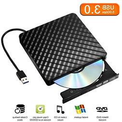 External DVD Drive Player for Laptop, Sibaok USB 3.0 Externa