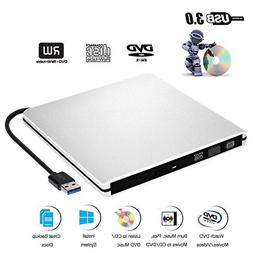 External DVD CD Drive USB 3.0 Burner Writer Drive Player for