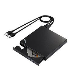 External DVD Drive, DOY Ultra Slim DVD RW / CD RW USB 2.0 CD