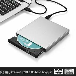 External USB 2.0 DVD CD RW Writer Drive Burner Reader Player