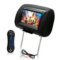 Pyle 7-Inch Car Headrest Mount, DVD Player, USB LCD Screen,