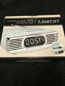 Innovative Tech Bedside Stereo CD Player FM Bluetooth Retro