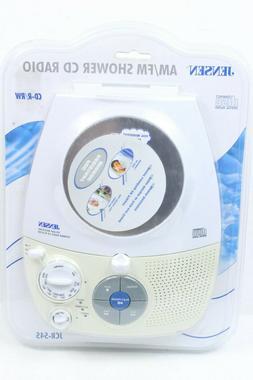 JENSEN JCR-545A AM/FM STEREO SHOWER RADIO WITH CD PLAYER & F