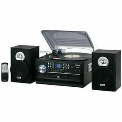 Jensen JMC-1250 Bluetooth 3-Speed Stereo Turntable 3 CD Chan