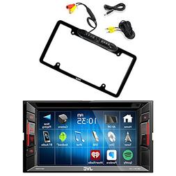 JVC Double Din Bluetooth In-Dash DVD/CD/AM/FM Car Stereo Rec