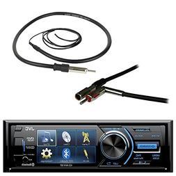 "JVC KD-AV41BT 3"" LCD Display Bluetooth Car CD DVD USB Stereo"