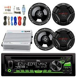 JVC KDR690S Car CD Player Receiver USB AUX Radio - Bundle Co