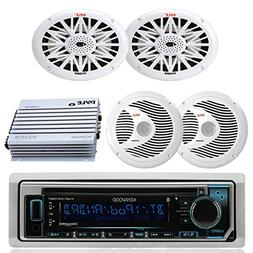Kenwood Bluetooth USB CD Marine Boat Yacht Radio Stereo, 2 X