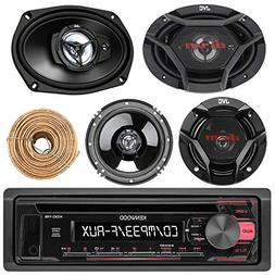 Kenwood KDC118 Car CD Player Receiver AUX Radio - Bundle Com