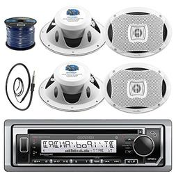 Kenwood KMR-D372BT in-Dash Marine Boat Audio Bluetooth CD Pl