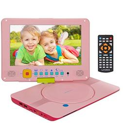 "COOAU 12"" Kids Portable DVD Player with 9"" Swivel Screen, 5"