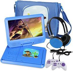 KOCASO 9 INCH Kids Portable Foldable CD/DVD Player W/Matchin