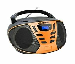 KORAMZI Portable CD Boombox with AM/FM Radio,AUX in, Top Loa