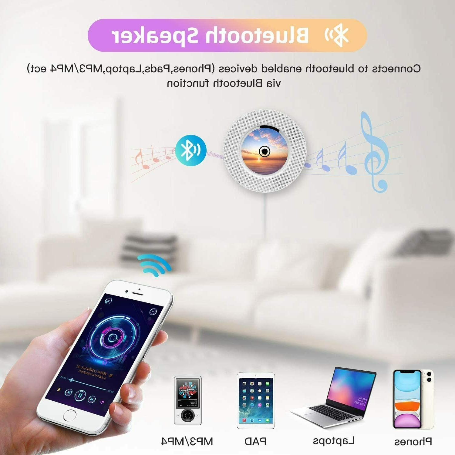 2020 Portable Bluetooth Player Wall Home Audio MP3 FM Speaker
