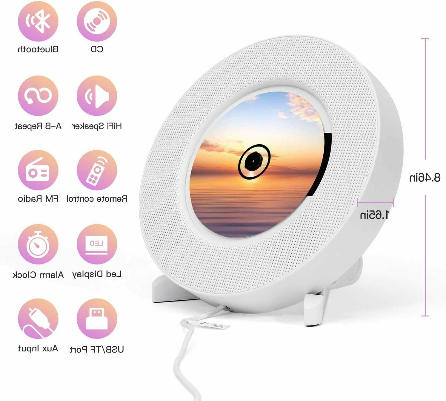 2020 Portable CD Player Wall Audio MP3 Speaker