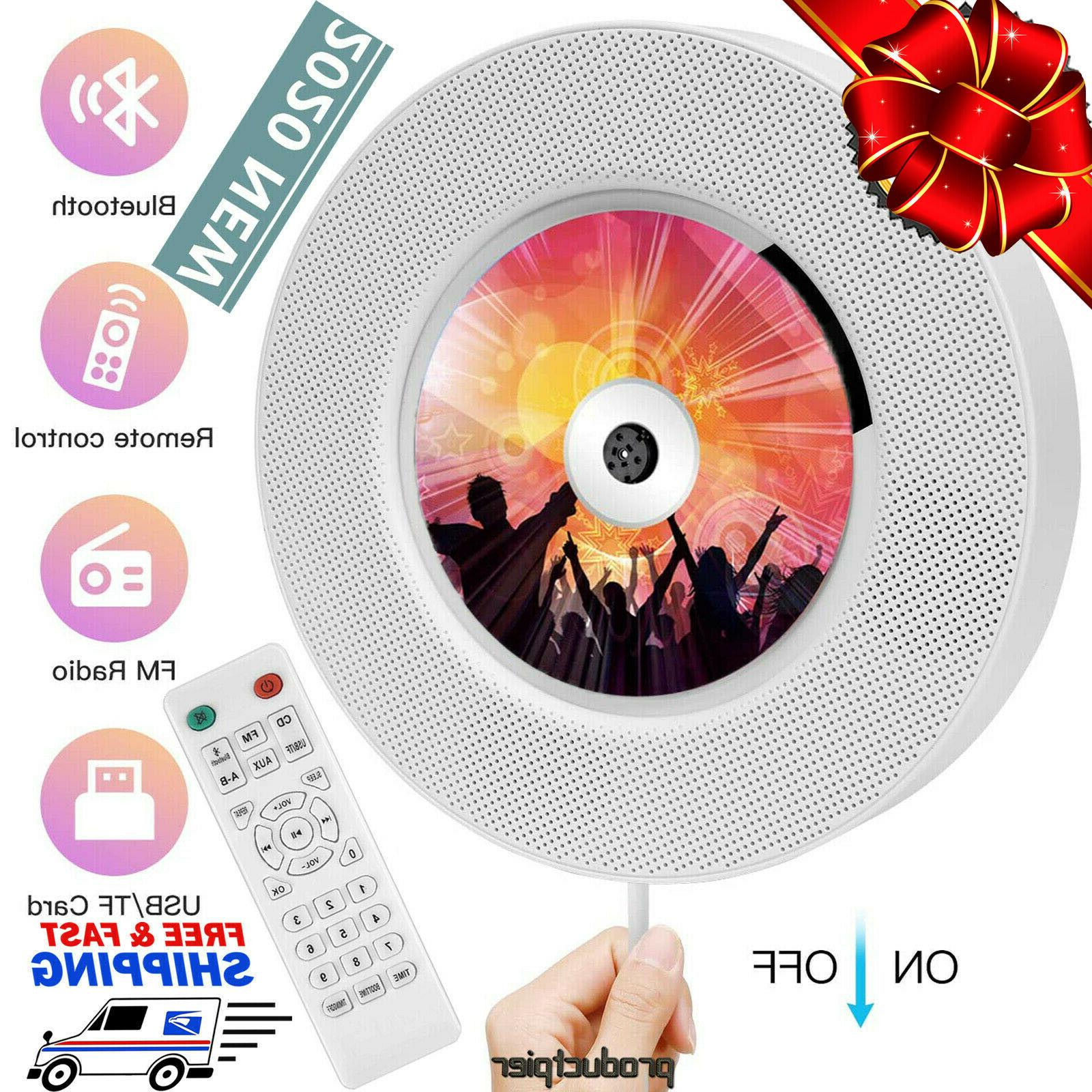 2020 portable bluetooth cd player wall mounted