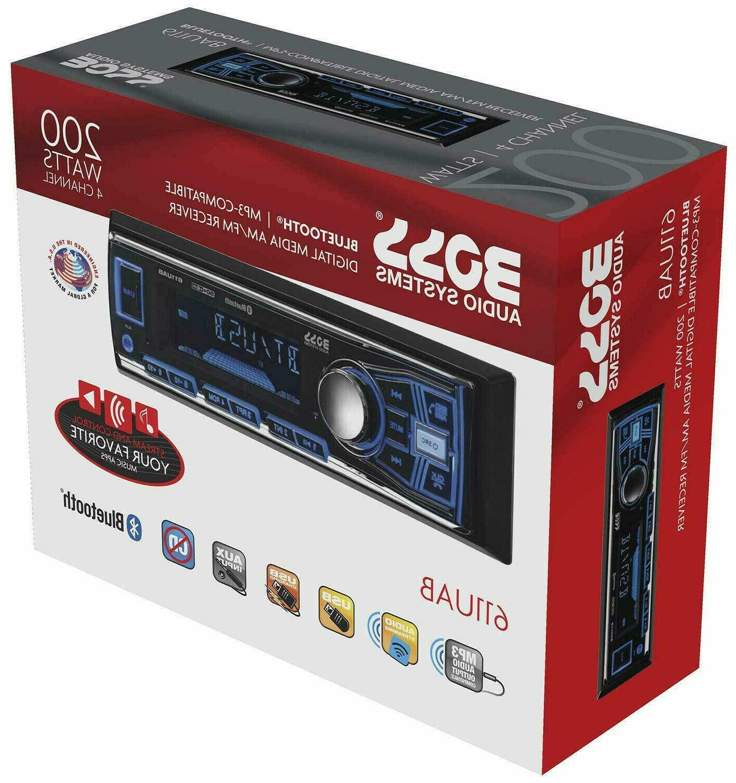 BOSS Audio 611UAB Car Stereo, No CD/DVD Player, AUX, Radio