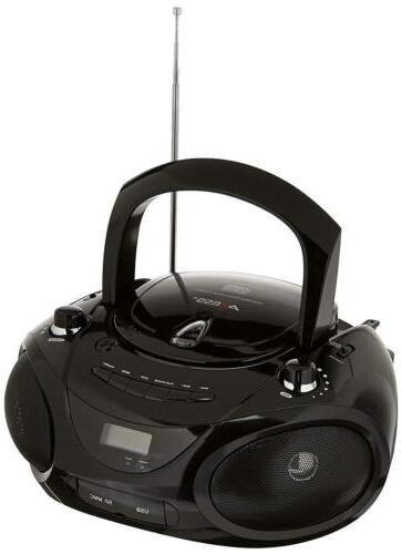 AXESS PB2703 Portable MP3/CD Boombox with AM/FM Stereo, USB,