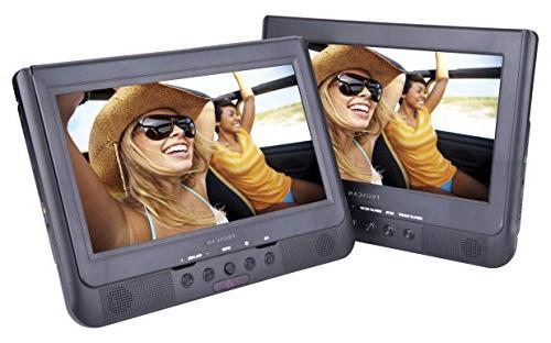 Sylvania SDVD1037 10-Inch Dual Screen DVD Player with USB Ca